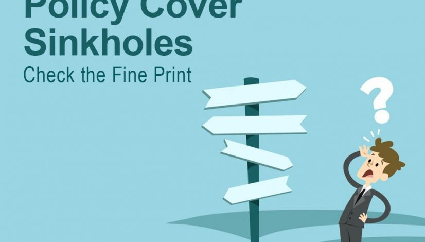 does your insurance policy cover sinkholes